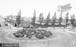 Coalville, The Roundabout c.1955