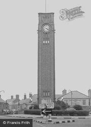 Coalville, War Memorial Clock Tower c.1955