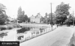 Cobham, Cedar House And The River Mole c.1955