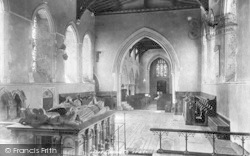 Cobham, Church Interior, Choir West 1899