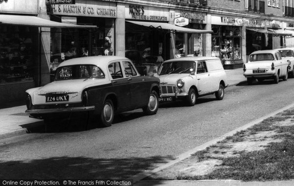Photo of Cobham, Hillman Minx And Morris  Mini c.1960