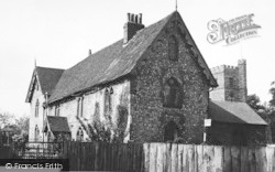 Cobham, The Old School And Church c.1955