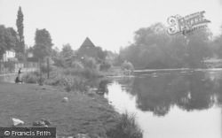 Cobham, The River Mole And The Old Mill c.1960