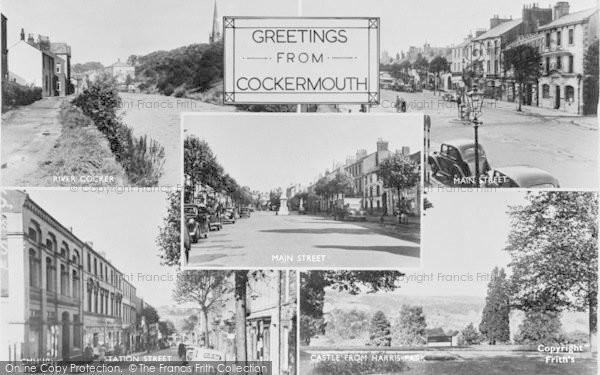 Photo of Cockermouth, Composite c.1955