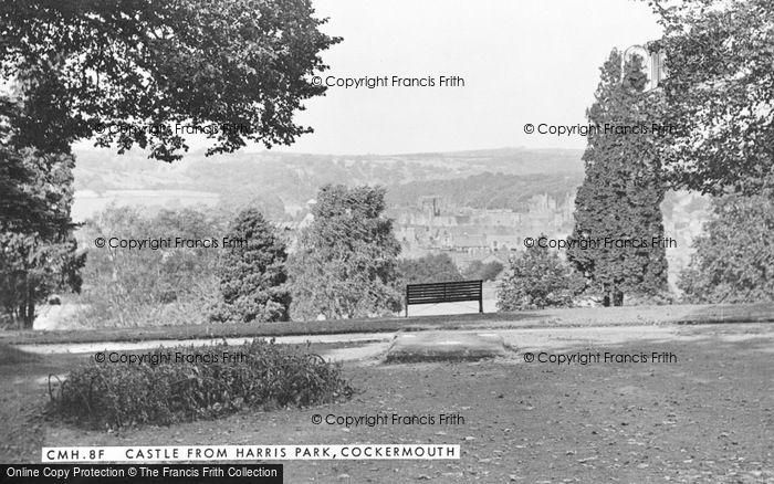 Photo of Cockermouth, The Castle From Harris Park c.1955