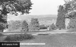 Cockermouth, The Castle From Harris Park c.1955