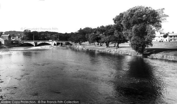 Photo of Cockermouth, the River c1955, ref. c133036