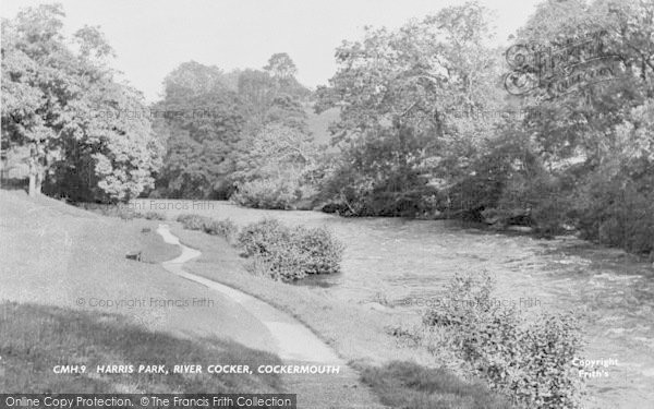 Photo of Cockermouth, The River Cocker, Harris Park c.1955