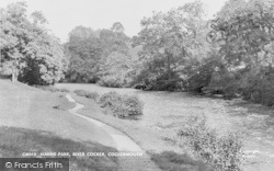 Cockermouth, The River Cocker, Harris Park c.1955