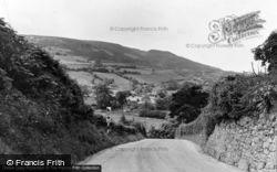 Coedpoeth, A Glimpse Of The Mountain c.1955
