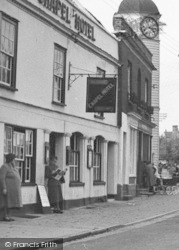 Coggeshall, Chapel Hotel And Clock Tower c.1955