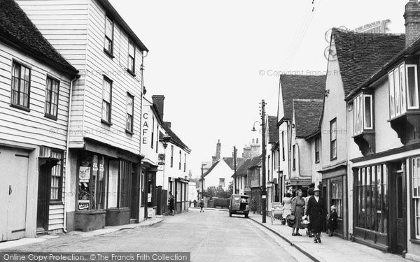 Coggeshall, East Street c1955, Essex.  (Neg. C242018)  © Copyright The Francis Frith Collection 2005. http://www.francisfrith.com