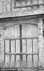 Coggeshall, Old Doorway, Paycock House c.1955