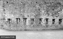 Castle, Arrow Loops In Curtain Wall 1953, Coity