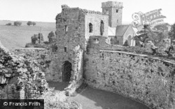 Coity, Castle, The Gatehouse And Curtain Wall 1953