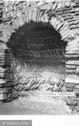 Colchester, Castle, Norman Fireplace c.1960