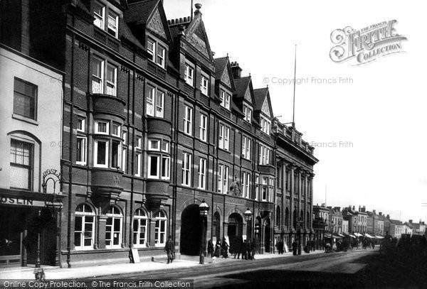 Photo of Colchester, Cups Hotel and Corn Exchange 1892