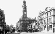 Colchester, High Street And Town Hall 1904