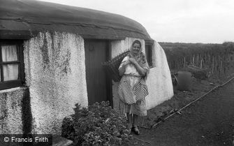 Coldingham, A Scottish Fish Wife and Crofters Cottage c1932