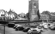 Coleford, Clock Tower, High Street and the Tump c1960