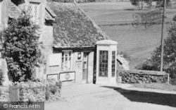 Colesbourne, The Post Office And Telephone Box c.1960
