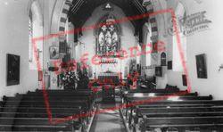 Collaton St Mary, Church Interior c.1960, Collaton