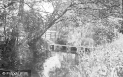 Collingham, The Footbridge, Church Lane 1957
