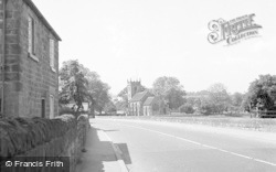 Collingham, The Main Road And Church 1957