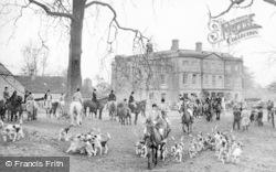 Coln St Aldwyns, W.W.H Bathurst Hunt Leaving Williamstrip Park c.1950