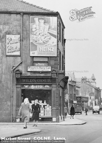 Photo of Colne, Advertising Hoarding c.1950
