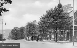 Albert Road And Municipal Hall c.1955, Colne