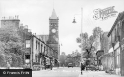 Colne, Albert Road And Town Hall c.1955