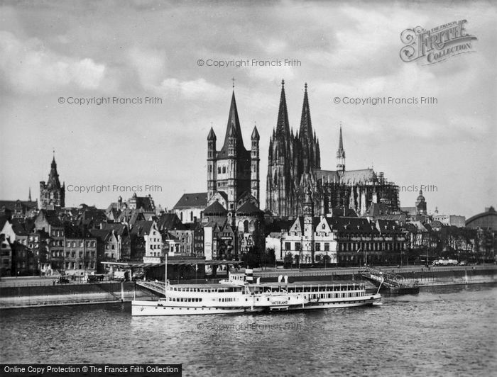 Photo of Cologne, From The Rhine c.1930
