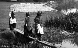 Coltishall, Crossing The Footbridge 1902