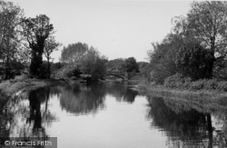 Coltishall, The River Bure And The Bridge 1950