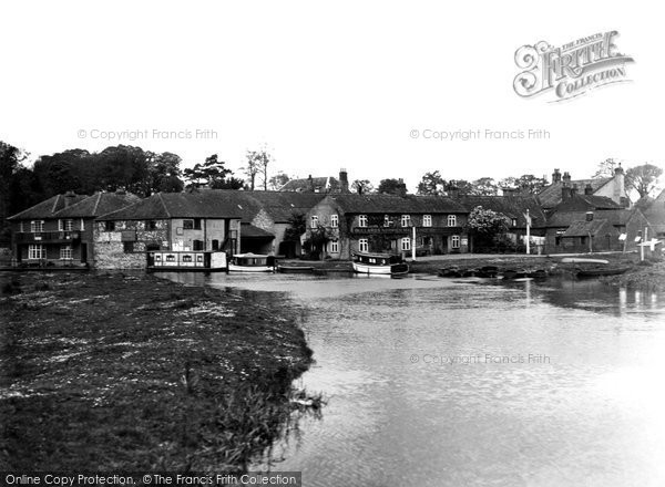 Photo of Coltishall, village from River c1955, ref. C417053