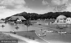Boating Lake, Eirias Park 1955, Colwyn Bay