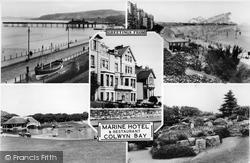 Greetings From Marine Hotel c.1955, Colwyn Bay