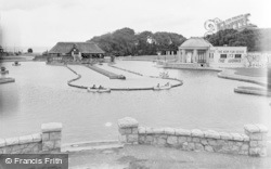 Colwyn Bay, The Boating Lake, Eirias Park 1950