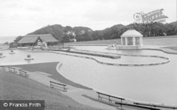 Colwyn Bay, The Boating Lake, Eirias Park c.1930