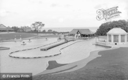 Colwyn Bay, The Lake And Pavilion, Eirias Park c.1930