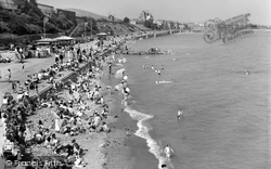 Colwyn Bay, The Promenade And Sands c.1960