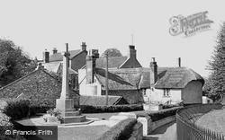 Colyton, Church Path And War Memorial  c.1955