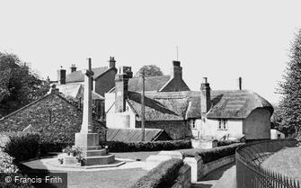 Colyton, Church Path and War Memorial  c1955