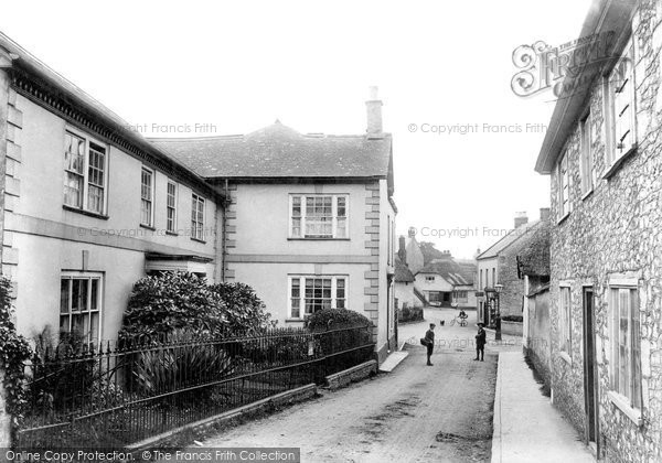 Colyton, Fore Street, with Girls School 1907