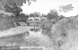 Colyton, River Coly And Chantry Bridge c.1965