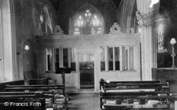 The Church Interior, Lady Chapel 1907, Colyton