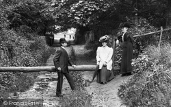 Combe Down, People In Rainbow Woods 1907