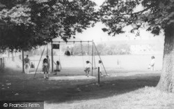 Combe Down, Swings, The Firs Field c.1965