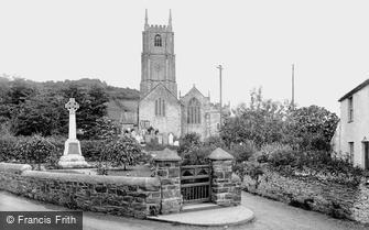 Combe Martin, St Peter's Church and War Memorial 1930